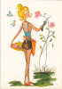 18650 Dessin Femme Année 1970 . Rosiere Mini Jupe -coupe D´or Du Bon Gout Glacée 50889 - Signée CF