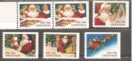 USA. Scott # 2580-85 MNH.  From Booklet. Christmas Santa Claus 1991 - 1981-...