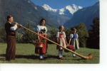 Alphornbläser Mit Trachtengruppe Mönch Und Jungfrau - BE Berne