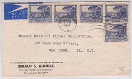 AFRIQUE Du SUD - 1947 - ENVELOPPE COMMERCIALE Par AVION De JOHANNESBURG Pour NEW YORK (USA) - Briefe U. Dokumente