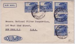 AFRIQUE Du SUD - 1947 - ENVELOPPE COMMERCIALE Par AVION De CAPE TOWN Pour NEW YORK (USA) - Briefe U. Dokumente