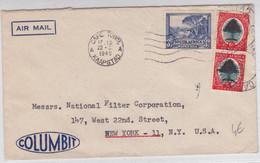 AFRIQUE Du SUD - 1949 - ENVELOPPE COMMERCIALE Par AVION De CAPE TOWN Pour NEW YORK (USA) - Briefe U. Dokumente
