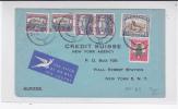 AFRIQUE Du SUD - 1952 - ENVELOPPE COMMERCIALE Par AVION De JOHANNESBURG Pour NEW YORK (USA) - CREDIT SUISSE - Briefe U. Dokumente