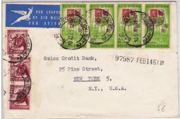 AFRIQUE Du SUD - 1961 - ENVELOPPE COMMERCIALE Par AVION De CAPE TOWN Pour NEW YORK (USA) - CREDIT SUISSE - Briefe U. Dokumente