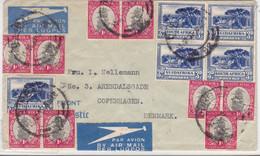 AFRIQUE Du SUD - 1935 - ENVELOPPE Par AVION De DURBAN Pour COPENHAGUE (DANEMARK) - Briefe U. Dokumente