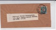 AFRIQUE Du SUD - 1947 - SEUL Sur BANDE JOURNAL De DURBAN Pour NEW YORK (USA) - Briefe U. Dokumente