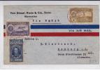 VENEZUELA - 1938 - ENVELOPPE COMMERCIALE Par AVION De MARACAIBO à HAMBURG (GERMANY) Via NATAL - POSTE AERIENNE - Venezuela