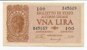 1 Lira Luogotenenza 1944 (ventura-simoneschi-giovinco) - FDS - [ 1] …-1946 : Koninkrijk