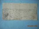F  727  25C TIMBRE QUITTANCE SUR RECU  DE 1889 - Fiscali