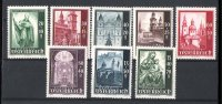 AUTRICHE ÖSTERREICH AUSTRIA YT 755-762 **  CATHEDRALE SALZBOURG EGLISE CHURCH KIRCHE - Postage Due