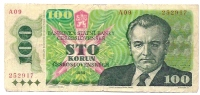 100 Korun - 1989 - Tsjechoslowakije