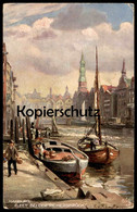 ALTE POSTKARTE FLEET BEI DER REIMERSBRÜCKE OILETTE RAPHAEL TUCK Postcard SERIE HAMBURG No. 699 Künstler F. V. Kamptz Cpa - Tuck, Raphael