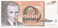 1000 Din - 1990 - Yougoslavie