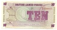 10 New Pence - Autorità Militare Britannica