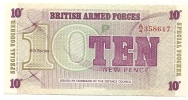 10 New Pence - British Military Authority