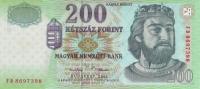 HUNGARY P. 187a 200 F 2001 UNC - Hungary