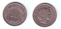 Switzerland 20 Rappen 1909 - Suiza