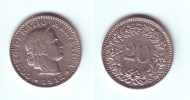 Switzerland 20 Rappen 1912 - Suiza