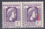 FRANCE   VARIETE N° YVERT  637  TYPE  MARIANNE D ALGER  NEUFS LUXE - Variétés: 1941-44 Neufs
