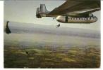 CPSM AVION MILITAIRE LARGAGE DU PERSONNEL PARACHUTISME - Paracadutismo