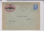 LOIRET - 1947 - ENVELOPPE PUBLICITAIRE DECOREE (MACHINE à ECRIRE) De ORLEANS  - GANDON - Postmark Collection (Covers)