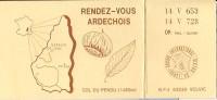 Rendez Vous Ardéchois-col Du Pendu-carte De QSL- Double - Radio Amatoriale