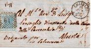 Annulli Numerali - Liguria  Antica Provincia Di GENOVA  Chiavari 61 Per  Murla - 1861-78 Victor Emmanuel II
