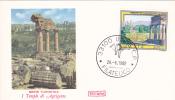 Serie Turistica Tourisme I Templi Di Agrigento 1982 Cover FDC Premier Jour Italia. - Holidays & Tourism