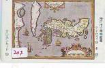 Télécarte Japon MAP * Carte Du Monde * GLOBE (207) * Géographie * Mappemonde * Japan Phonecard * Telefonkarte - Espace