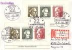 Bund R-Brief Mef Minr.2x Block 5 SST Bonn 11.8.69 FDC - Briefe U. Dokumente