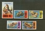 ZAMBIA 1973 CTO Stamp(s) Prehistoric Animals 97-101  #6185 - Stamps
