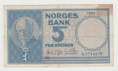 Norway 5 Kroner 1962 VF+ CRISP Banknote P 30b  30 B - Noruega