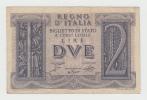 Italy 2 Lire 1939 VF+ CRISP Banknote P 27 - [ 1] …-1946 : Regno