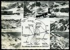 AK Mapkarte, Zürs, Lech Am Arlberg, Die Schönsten Skiabfahrten, Vorarlberg, Austria, Gel. 1960 - Landkarten