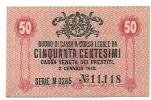 Cassa Veneta - 1918th - 50 Centesimi - Italie