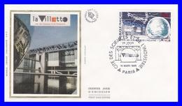 2409 (Yvert) Sur Enveloppe Premier Jour Illustrée Sur Soie - La Villette, Cité Des Sciences Et De L´Industrie - 1986 - FDC