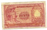 100 Lire - 31.12.1951. - [ 2] 1946-… : Républic