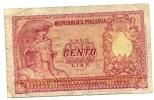 100 Lire - 31.12.1951. - [ 2] 1946-… : Republiek