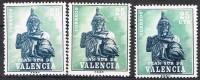 Valencia Plan Sur, Jaime I 1975,  VARIEDAD Color, Edifil Num 8 **/* - 1931-Hoy: 2ª República - ... Juan Carlos I