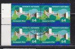 NATIONS  UNIES  VIENNE   1979/80  N°4  BLOC DE 4  OBLITERE    CATALOGUE YVERT - Centre International De Vienne