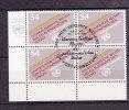 NATIONS  UNIES  VIENNE   1981   N°  16   BLOC DE 4  OBLITERE    CATALOGUE  YVERT&TELLIER - Oblitérés