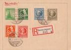 Thüringen R-Brief Mif Minr.94,95,96,97,98B,99 Sondershausen 2.2.46 - Sowjetische Zone (SBZ)