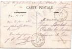 CACHET MILITAIRE SERVICE MILITAIRE DES CHEMINS DE FER COMMISION DE GARE DE SAINT-FLORENTIN VERGIGNY BAUDOT CLAIRON - Postmark Collection (Covers)