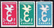 1958 Europe / CEPT Kompleter Satz Falzlos Michel 590 / 592 - Ongebruikt