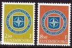 1959 10 Jahre NATO  Kompleter Satz Falzlos Michel 604 / 605 - Ongebruikt