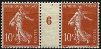 "Millésime 6  YT 135 "" Semeuse Camée 10c. Rouge Type I "" 1906 Neuf - Millesimes"