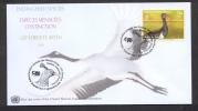 4.- NU 2011. (Genéve) .- Enveloppe Premier Jour. Oiseaux Menacés D´extintinction. Cigogne Noire (Ciconia Nigra) - Storks & Long-legged Wading Birds