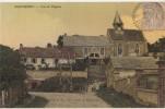 CPA 95 MONTREUIL EN VEXIN Vue De L'Eglise Carte Toilée Couleur 1909 - Unclassified