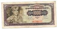 1000 Dinara - 1963 - Yougoslavie