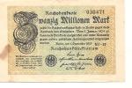 Inflation - 1923 - 20 Millionen Mark